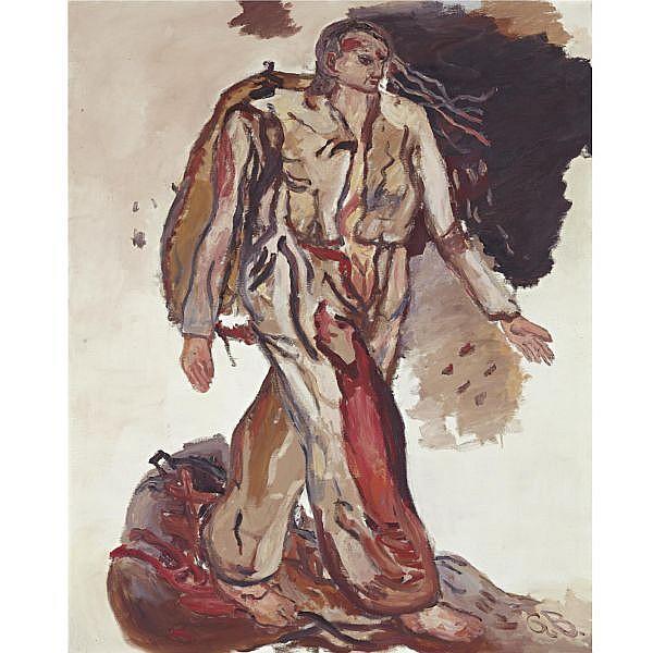 - Georg Baselitz , b. 1938 B.J.M.C. - Bonjour Monsieur Courbet oil on canvas