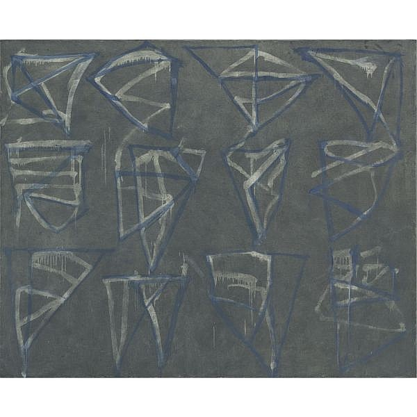 Brice Marden , b. 1938 Glyphs oil on canvas