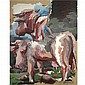 - Georg Baselitz , b. 1938 Die Kuh (The Cow) oil on canvas   , Georg Baselitz, Click for value