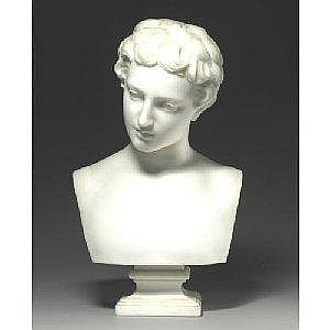 HIRAM POWERS 1805-1873 FISHER BOY Measurements: height: 19.5in. Alternate Measurements: (49.5 cm) inscribed H. Powers Sculp. white marble Provenance: Acquired by the present family, before 1955 Literature and References: cf. Richard P. Wunder, Hiram