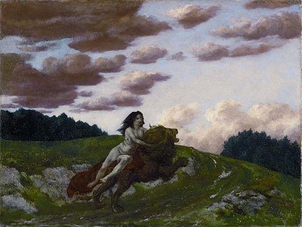 Albert Welti 1862 - 1912 , KYBELE   CYBELE Tempera auf Leinwand