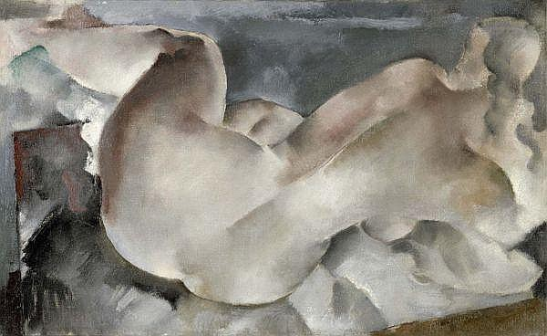 - Rodolphe-Théophile Bosshard 1889-1960 , FEMME NUE ALLONGÉE, 1929   ELONGATED FEMALE NUDE, 1929 Öl auf Leinwand