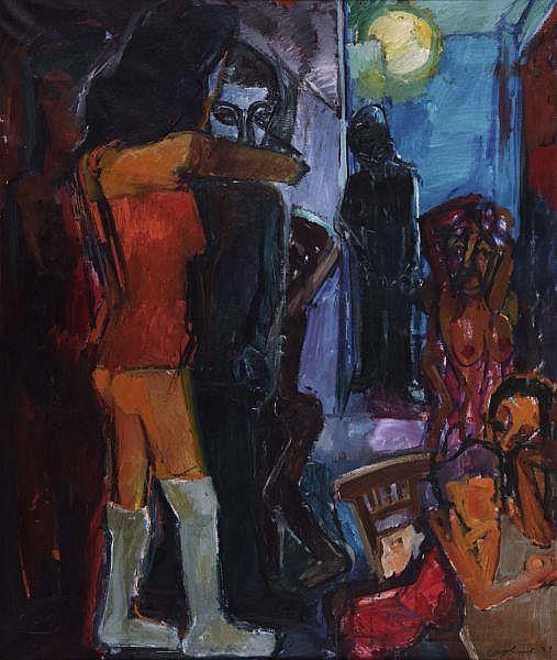 - Coghuf (Ernst Stocker) 1905-1976 , PARIS, 1928   PARIS, 1928   Öl auf Leinwand