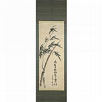 SENGAI GIBON (1750-1837)LE VENT SOUFFLANT DANS LES BAMBOUS