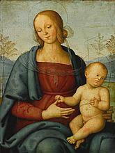 GIANNICOLA DI PAOLO | The Madonna and Child in a landscape