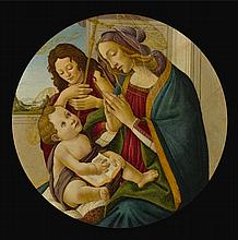 WORKSHOP OF ALESSANDRO DI MARIANO FILIPEPI, CALLED SANDRO BOTTICELLI | The Madonna and Child with the Young Saint John the Baptist