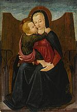 MASTER OF THE CASTELLO NATIVITY | The Madonna and Child Enthroned