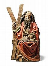 SOUTH GERMAN OR AUSTRIAN, LATE 15TH CENTURY | Saint Andrew