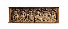 CIRCLEOF TILMAN RIEMENSCHNEIDER<BR />(HEILIGENSTADT IM EICHSFELD C. 1460 - 1531 WÜRZBURG)<BR />GERMANY, FRANCONIA, FIRST QUARTER 16TH CENTURY | three reliefs of the twelve apostles