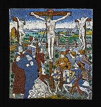 THE MONVAERNI MASTER<BR /> (ACTIVE IN LIMOGES 1461-AT LEAST 1485)<BR />FRANCE, LIMOGES, CIRCA 1475 | the Crucifixion