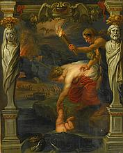 FOLLOWER OF SIR PETER PAUL RUBENS | Thetis dipping the infant Achilles into the River Styx
