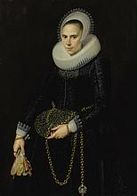 CORNELIS VAN DER VOORT | Portrait of a lady, aged 24