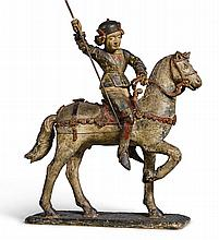 PROBABLY AUSTRIAN, TYROL<BR />SECOND HALF15TH CENTURY | armoured man on horseback