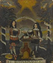 JOACHIM GEORG KREUTZFELDER | Allegorical portrait of the brothers Phillip Albert and Wilhelm Heinrich von Limpurg