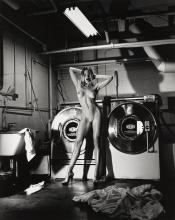HELMUT NEWTON | 'Domestic Nude III: In the Laundry Room at the Château Marmont, Hollywood', 1992
