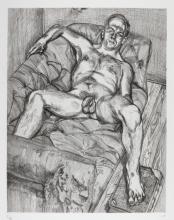 LUCIAN FREUD | Man Posing