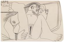 PABLO PICASSO | Nu couché (Reclining nude)