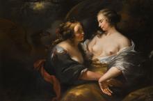 NICOLAES PIETERSZ. BERCHEM AND STUDIO | Jupiter disguised as Diana seducing the nymph Callisto