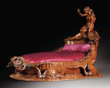 FRENCH, SECOND HALF 19TH CENTURY, <EM>AN EXCEPTIONAL CARVED MAHOGANY BED</EM> |