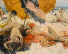 HOWARD CHANDLER CHRISTY | Nudes at the Beach