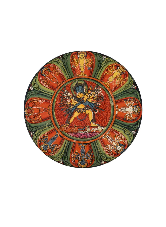 IMPORTANTE TANGKA REPRÉSENTANTLE MANDALA DE KALACHAKRA TIBET CENTRAL, MONASTÈRE DE NGOR, MILIEU DU XVE SIECLE  