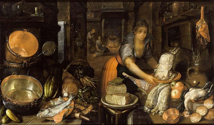 OTHER PROPERTIES CORNELIS JACOBSZ. DELFF GOUDA 1570/71 - 1643 DELFT A KITCHEN STILL LIFE WITH