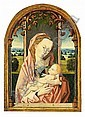 THE PROPERTY OF A LADY FOLLOWER OF ROGIER VAN DER WEYDEN THE VIRGIN AND CHILD ENTHRONED WITHIN A, Rogier Van Der Weyden, Click for value