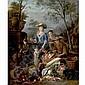 PIETER SNYERS ANTWERP 1681-1752 A VEGETABLE SELLER, Peeter Snyers, Click for value
