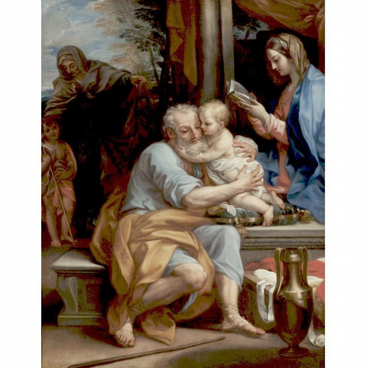 GIUSEPPE BARTOLOMEO CHIARI LUCCA OR ROME 1654 - 1727 ROME SAINT JOSEPH EMBRACING THE INFANT