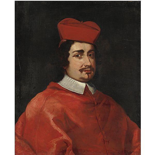 Giovanni Maria Morandi , Firenze 1622-1717 Roma Ritratto di Flavio Chigi olio su tela
