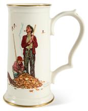 A SET OF THREE CERAMIC STEINS FROM THE FOUR SEASON SERIES FOR 1948 | i. Winter- Gay Blades<br />ii. Fall- Pensive Pals<br />iii. Summer- The Mysterious Malady