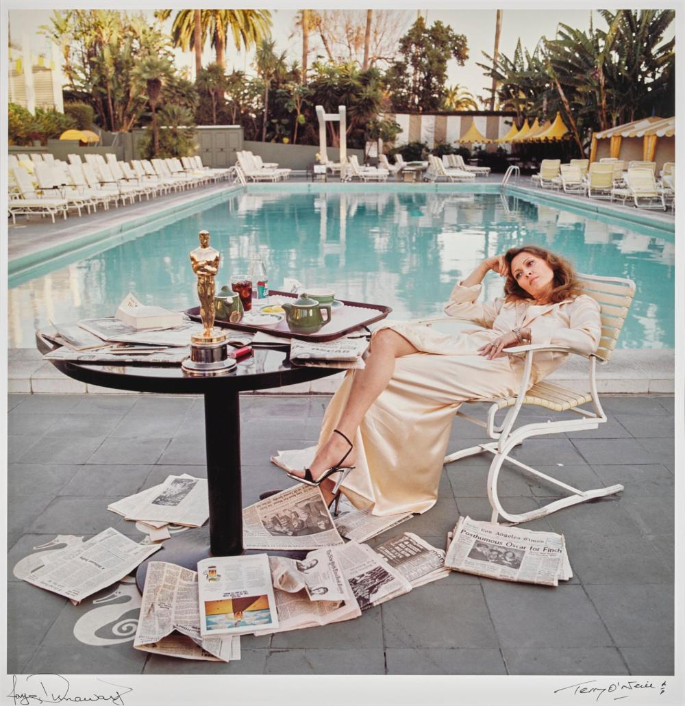 TERRY O'NEILL | Faye Dunaway at the Beverley Hills Hotel, 1977