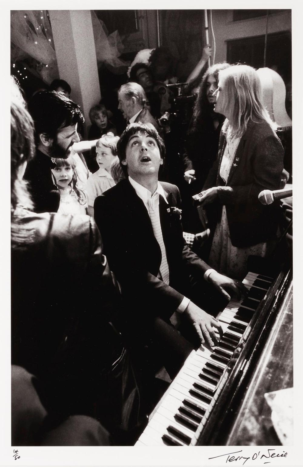 TERRY O'NEILL | Paul McCartney at Ringo Starr's Wedding, 1981