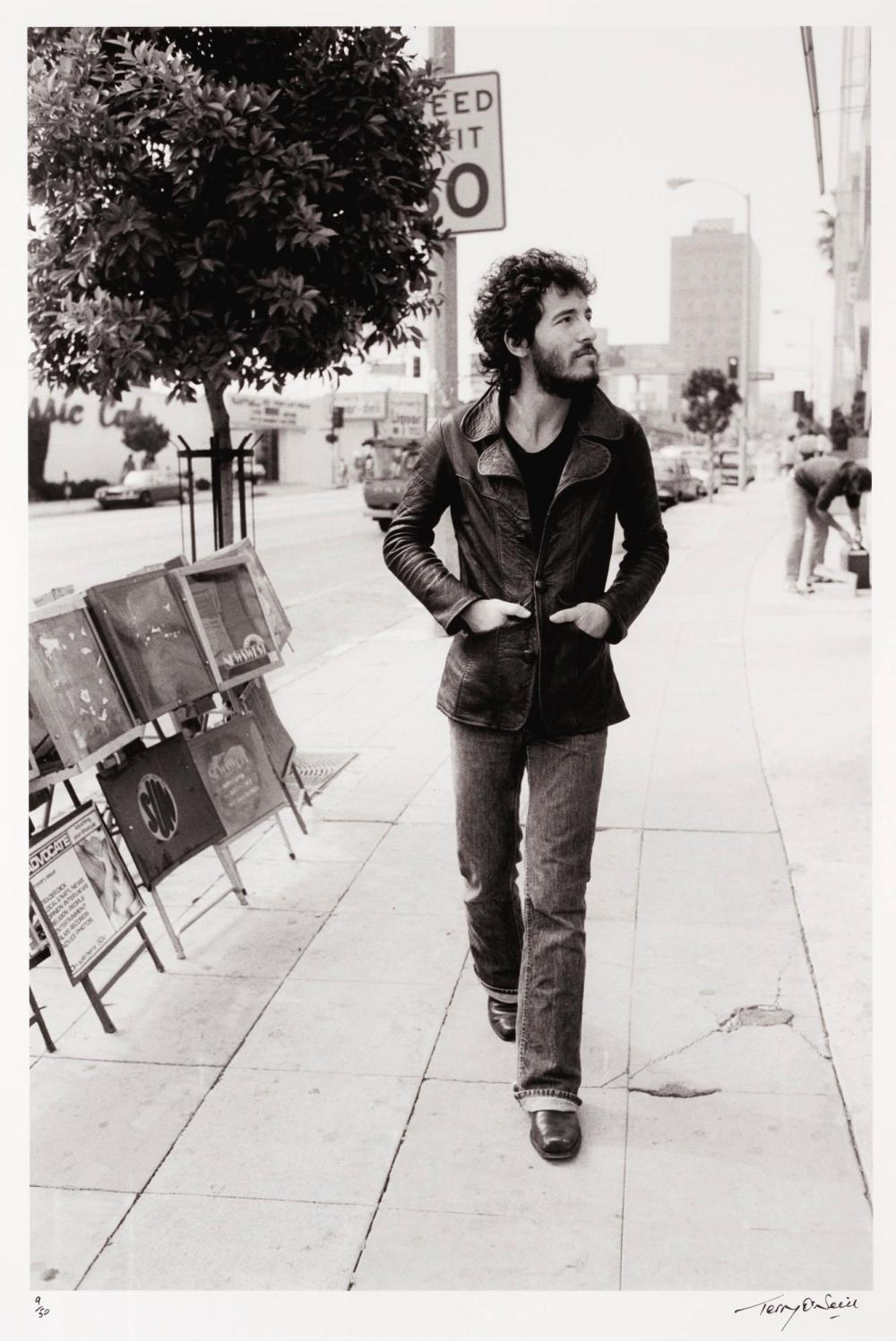 TERRY O'NEILL | Bruce Springsteen, Sunset Strip, Los Angeles,1975