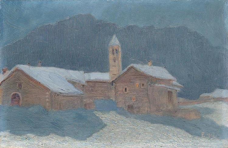ERNST ZUPPINGER 1875-1948 CELERINA IM MONDSCHEIN, 1907
