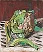 REINHOLD KÜNDIG 1888-1984 BLUMENKOHL ÖL AUF LEINWAND 46 X 38 CM PARK - RECTO LANDSCHAFTSSTUDIE -, Reinhold Kündig, Click for value
