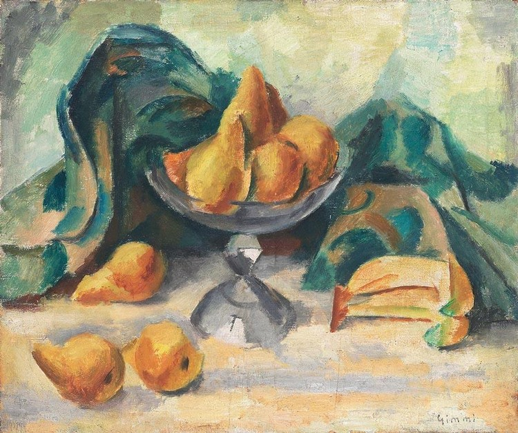 WILHELM GIMMI 1886-1965 NATURE MORTE AUX FRUITS