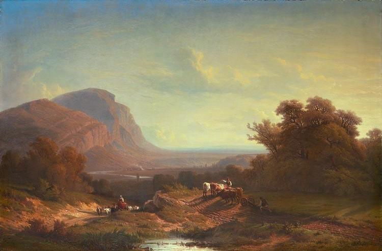 FRANÇOIS DIDAY 1802-1877 MONT SALÈVE, 1861