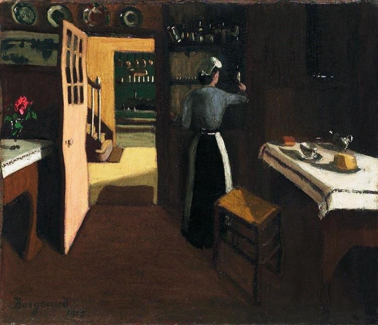 c - MARIUS BORGEAUD 1861-1924 LE FUMOIR, 1912