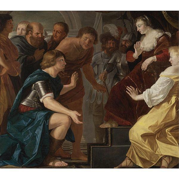 Christian van Couwenbergh , Delft 1604-1667 Cologne   The Departure of Aeneas from Dido, Queen of Carthage oil on canvas