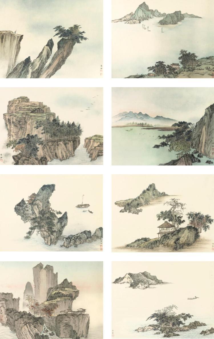 AN HE (AN HO, B.1927) | Landscapes