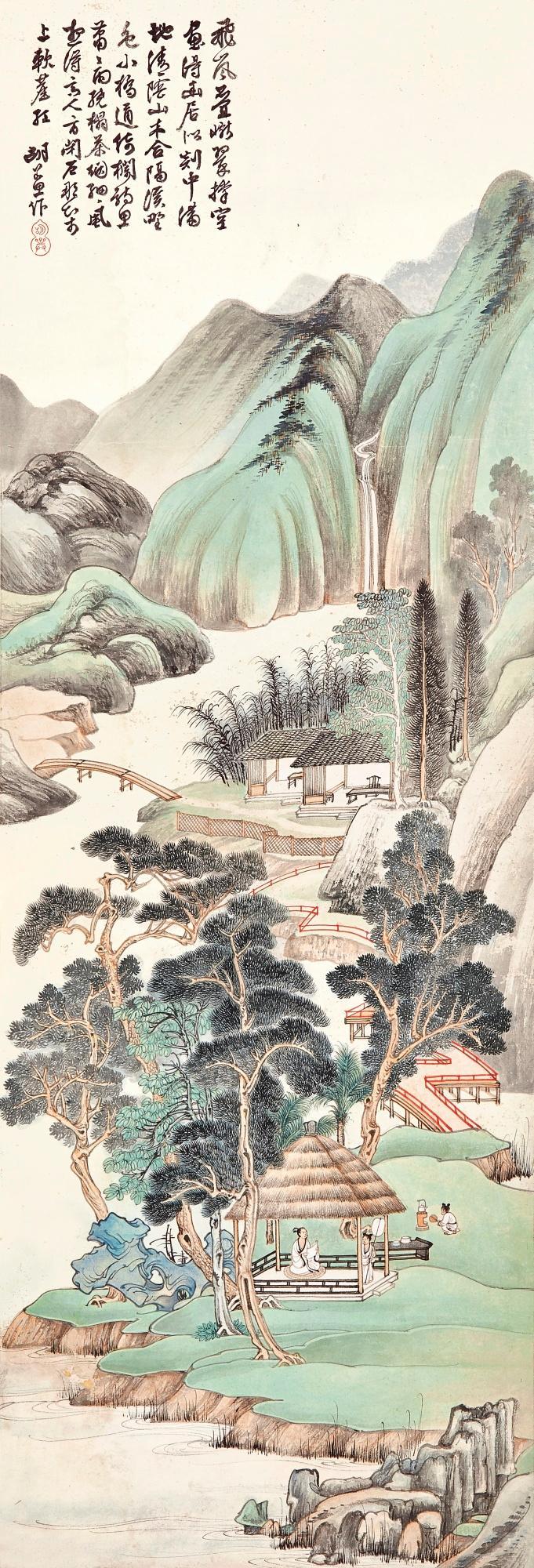 HU RUOSI (1916-2004)   Brewing Tea at the Hermitage