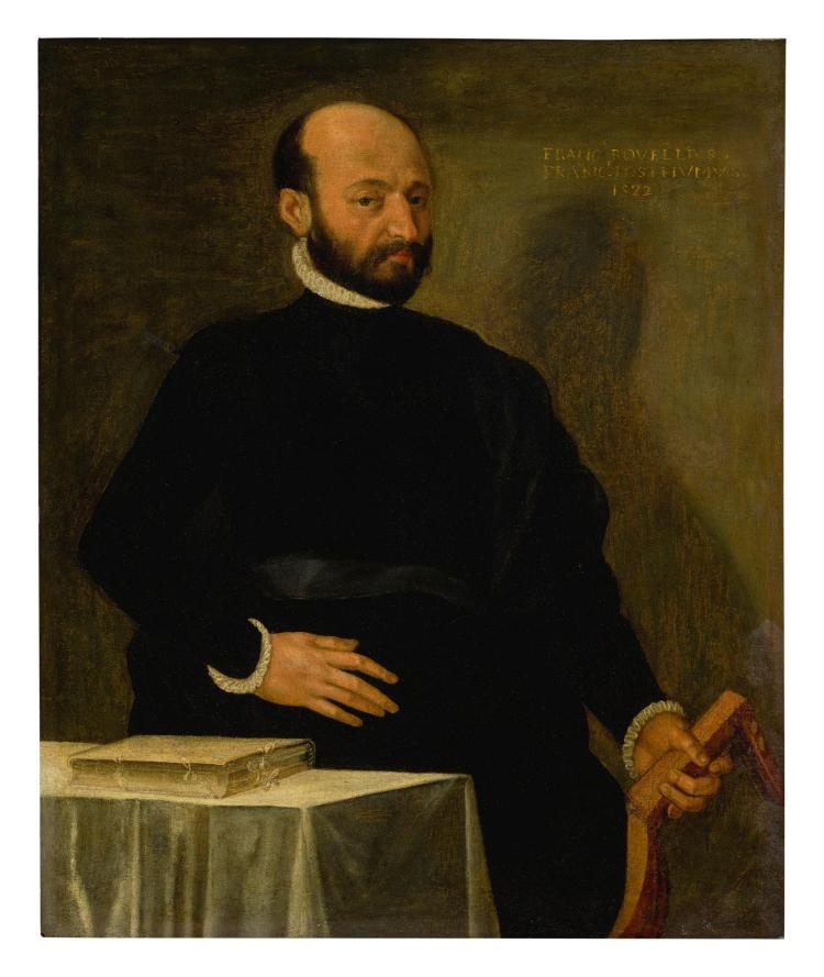 CIRCLE OF PAOLO CALIARI, CALLED IL VERONESE | Portrait of Francesco Rovellus of Bergamo, three-quarter length