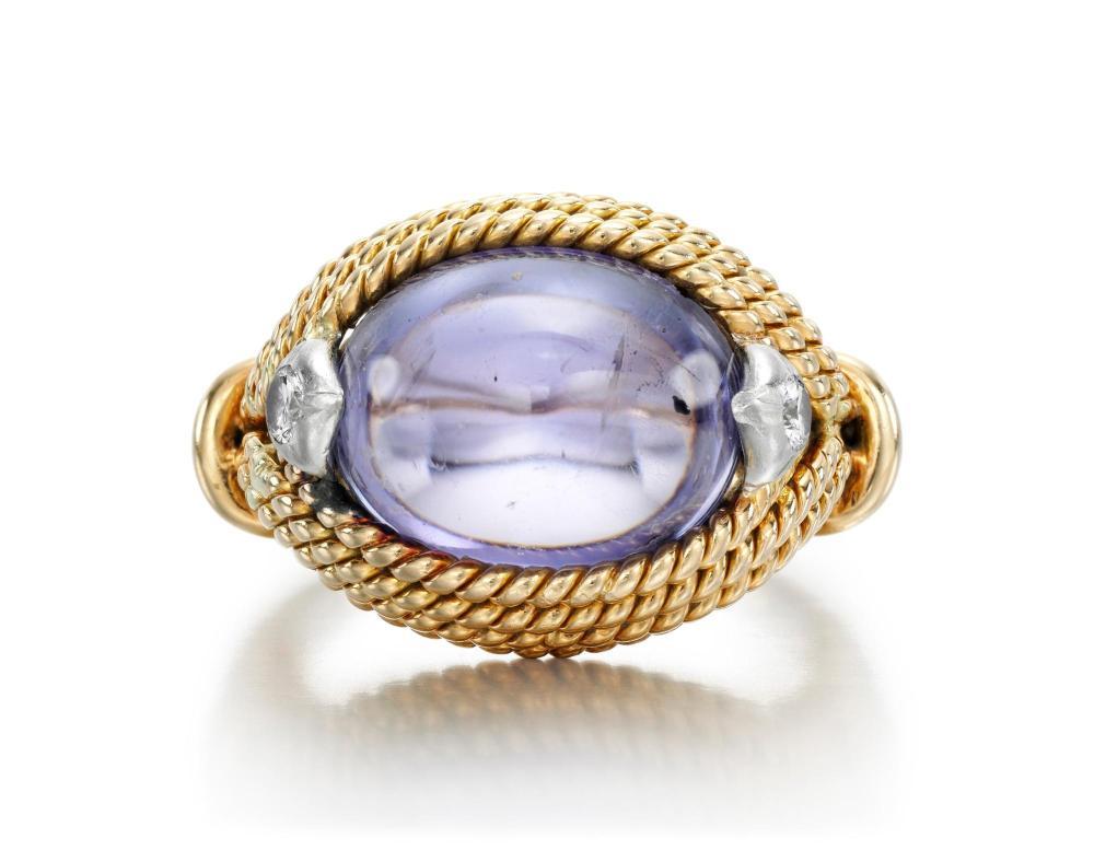 SAPPHIRE AND DIAMOND RING, MARCHAK