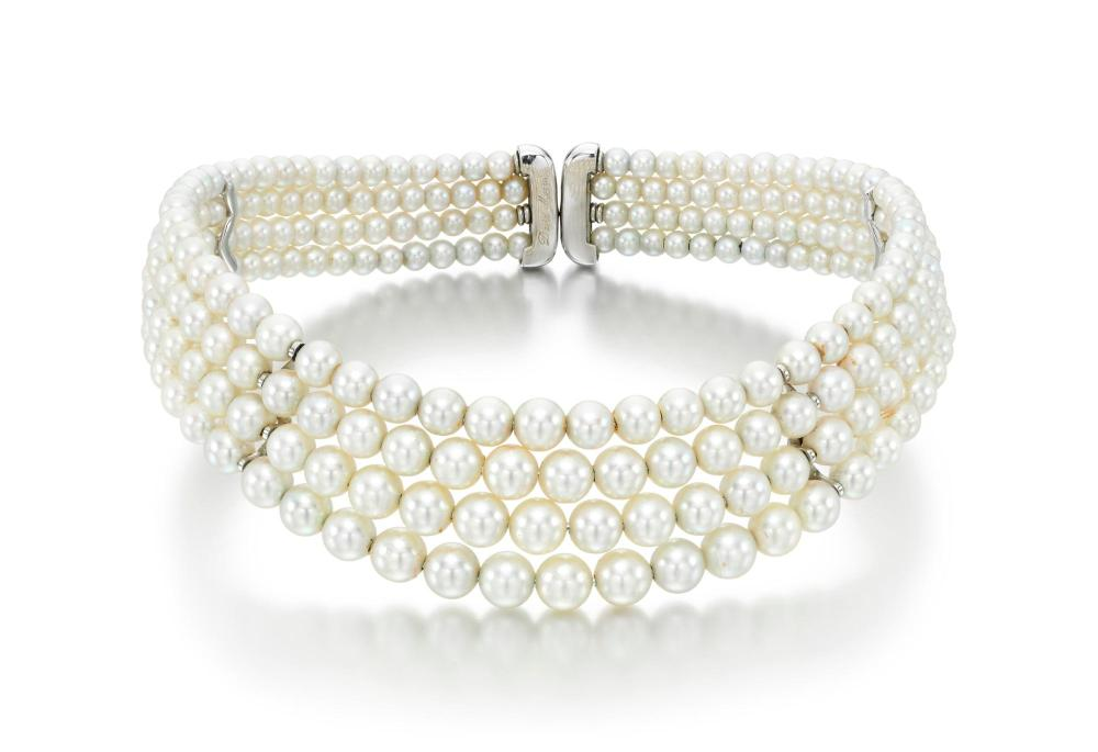 CULTURED PEARL CHOKER, DAVID MORRIS