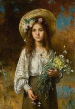 ALEXEI ALEXEEVICH HARLAMOFF | Girl with Flowers