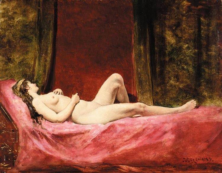 JULES-ELIE DELAUNAY FRENCH, 1828-1891 L'ODALISQUE