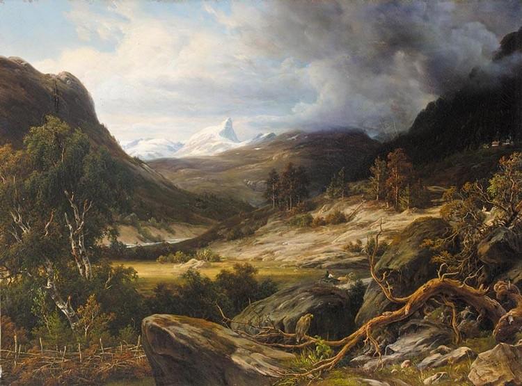 PROPERTY OF A GERMAN GENTLEMAN OF TITLE THOMAS FEARNLEY NORWEGIAN, 1802-1842 RYTTERE I LANDSKAP