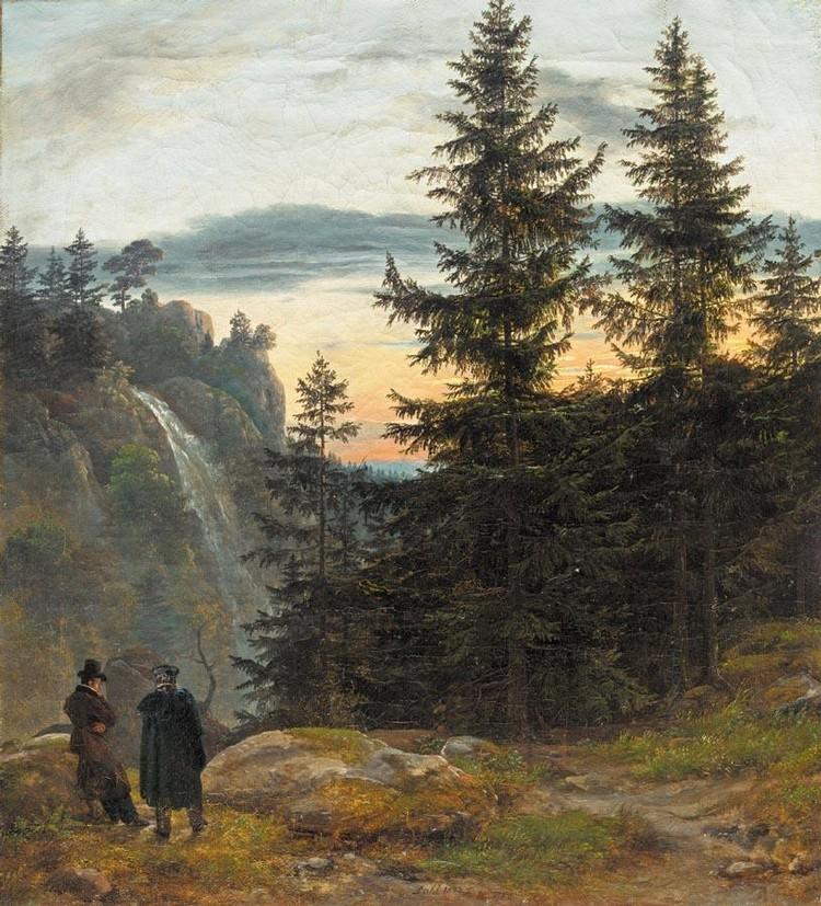 PROPERTY OF A GERMAN PRIVATE COLLECTOR JOHAN CHRISTIAN DAHL NORWEGIAN, 1788-1857 UTSIKT MED FOSS
