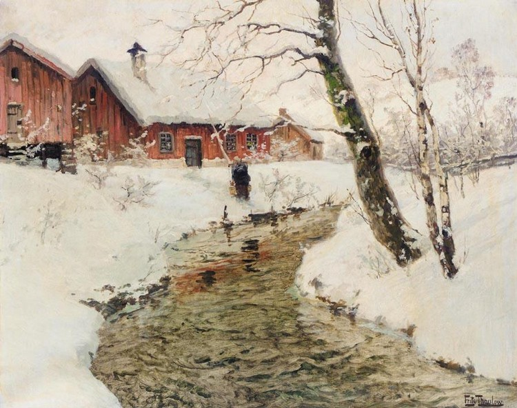 PROPERTY OF A NOBLEWOMAN FRITS THAULOW NORWEGIAN, 1847-1906 VINTER I NORGE (WINTER IN NORWAY)